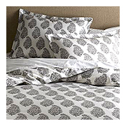 West Elm Blocked Organic Paisley Duvet Cover & Shams